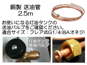 長府製作所 送油管 2.5m