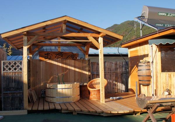 檜の露天風呂 お客様の設置例