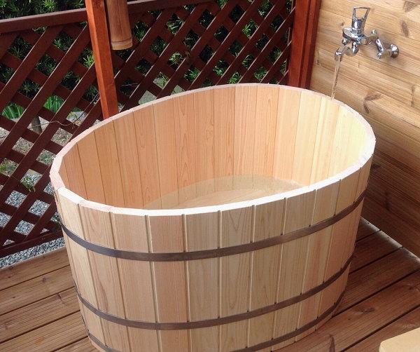 桧風呂 お客様の設置例